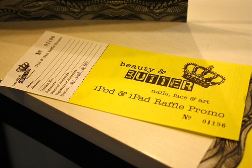 Beauty & Butter Raffle Ticket