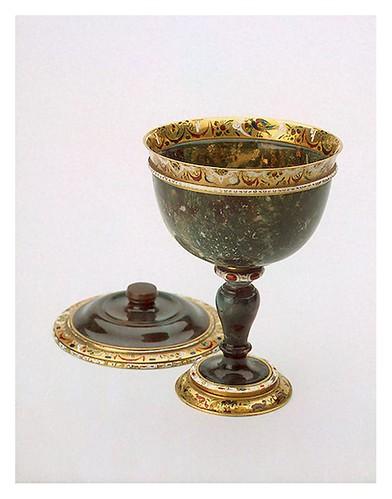 002- Copa de Heliotropo y oro- tallado pulido  pintado y esmaltado-Miseroni Ottavio-Bohemia. Praga. Alrededor de 1616-Copyright ©2003 State Hermitage Museum