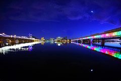 Tempe Town Lake in all its Glory! (gbrummett) Tags: arizona tempetownlake 800iso phoenixlightrail canoneos5dmarkiicamera grantbrummett canonef1740mmf4lusmzoomlens