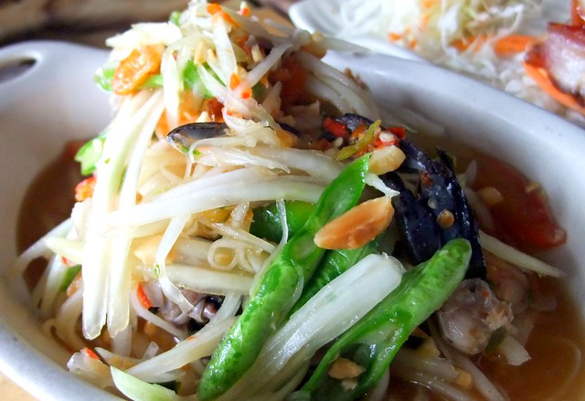 Som Tam with Fermented Crabs (Green Papaya Salad)
