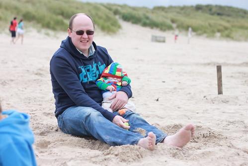 Daddy & CJ on Beach (2)