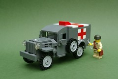 Dodge WC54 Ambulance - V2 (1) (Dunechaser) Tags: usa army us lego military ambulance worldwarii american ww2 dodge medic allies wc54 medicalcorps