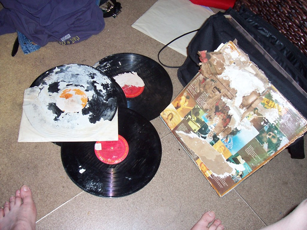 This isn't how to care for classic vinyl!