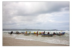 Surf Rowing at Watergate Bay - On your marks .. (Mark-Crossfield) Tags: pictures uk greatbritain sea england beach race start coast boat photo wooden sand watergatebay cornwall surf waves image photos sandy picture wave competition running images racing event lifeboat beaches watergate bowman 2010 sandybeach rowers bigwave photosof picturesof surfboat nearnewquay onyourmarks imagesof surfrowing watergatebayhotel surfboatracing markcrossfield
