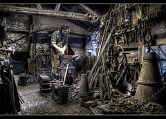 Return to the Blacksmiths (Roger.C) Tags: st wales work working tools textures blacksmith horseshoes hdr wfc anvil fagans 1exp