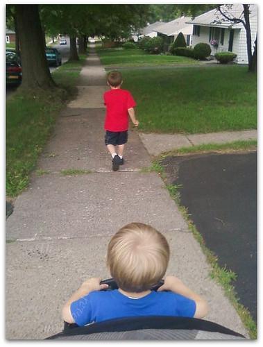 Walk with boys