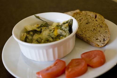 Spinach Potato Gratin