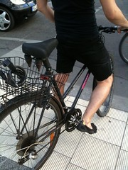birthday / stealth mode (visivo) Tags: bike mobile termie cuteness iphone toeshoes