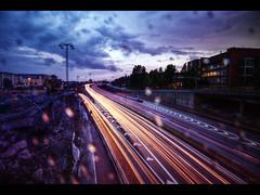 A rainy shot from Sweden (Kaj Bjurman) Tags: eos sweden stockholm 5d hdr kaj markii cs4 photomatix solnabron essingeleden bjurman