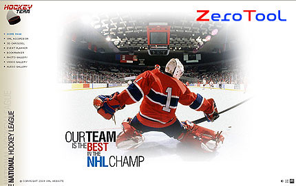 FlashMint 2726 rip Hockey team full XML flash template