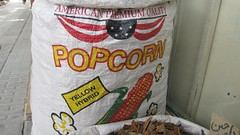 American popcorn bag