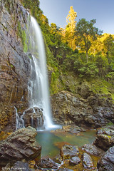 Cedar Falls (-yury-) Tags: park red way landscape waterfall australia falls national cedar nsw dorrgo