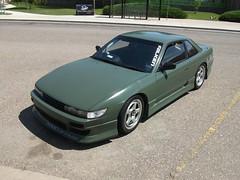 Nissan Silvia (dave_7) Tags: green car nissan silvia import jdm rhd