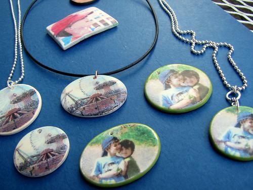 Some prototype pendants