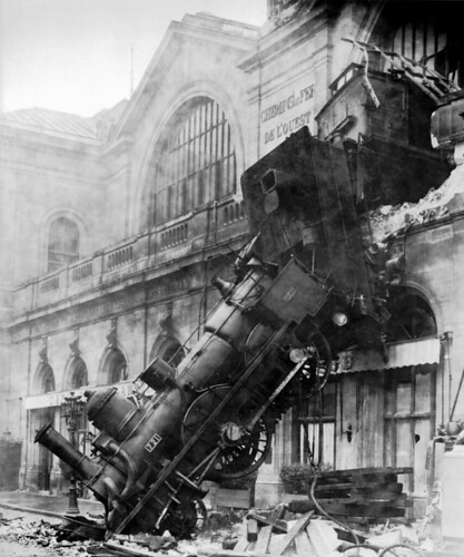 Train wreck at Montparnasse 1895 by mlevin77