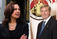 Kamala Harris and Steve Cooley