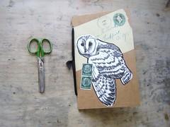 Owl Post Notes from Hedwig (VintageScraps) Tags: vintage antique pendant etsycom paperephemera blancnoir medicalart vintagescrapsetsycom