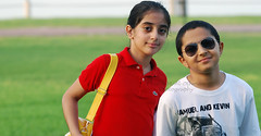 { I HATE ... } (Shoshe { Aisha M. Al-Othman }) Tags: friends boy red summer white green girl smile sunglasses kids nikon sigma lil rayban aisha faisal ksa aramco 70200mm d60 tamer dalal hosny lacost alothman alothmana