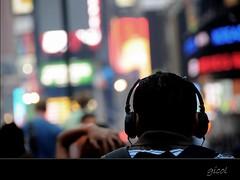 TIME SQUARE (REPOST) (gicol) Tags: newyorkcity light usa color luz walk unitedstatesofamerica ciudad explore paseo listening musica earphone frontpage luce città wlaking camminare passeggiare cuffia escuchar saariysqualitypictures acsoltare