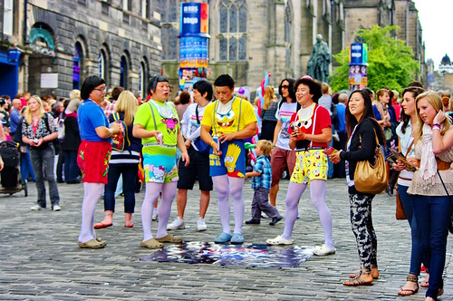 Edinburgh, Edimbourg, Scotland, The Fringe dans High street 5