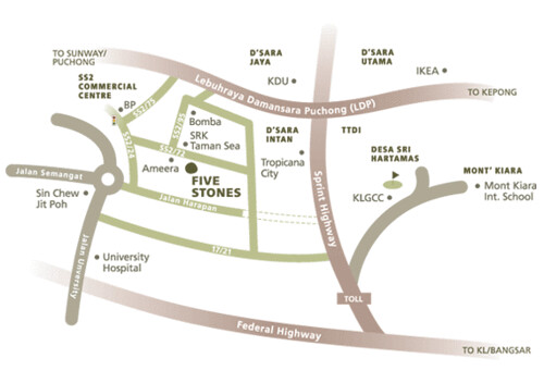 Five Stones Map