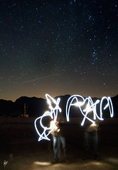 A night with the stars (series) (Paco CT) Tags: sky lightpainting night stars noche spain nightshot cielo estrellas nocturna esp 2010 astronomical lleida pintandoconluz astronomica pacoct plandeberet