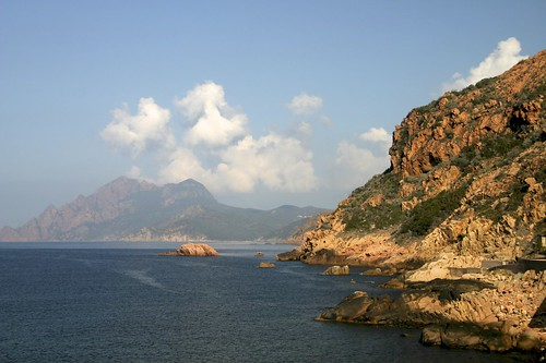 Porto sea front, Corsica