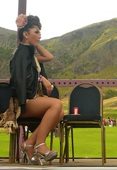 Edinburgh Fringe Festival: Ladyboys of Bangkok (chairmanblueslovakia) Tags: people beautiful beauty leather rose festival les asian scotland high glamour chair edinburgh sitting cola mesh bangkok fine fringe fishnet tgirl transgender jacket sit heels stocking seated coca picnik imposing preen transsexual ladyboys clad cavalcade glamourous kathoey gorgoeus