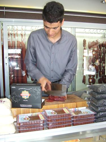 P1050030 Découpe du pastirma, Kayseri