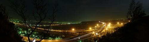 清水交流道全景夜間