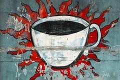 Are We Awake Yet? (MilkaWay) Tags: coffee georgia mural flames athens local jitteryjoes roastingcompany cupojoe clarkecounty