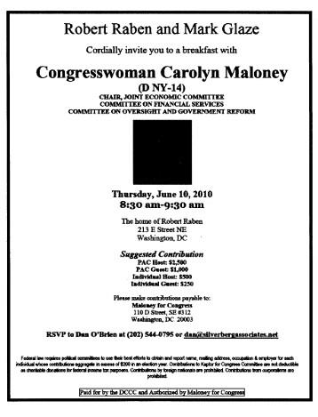 Maloney fundraiser