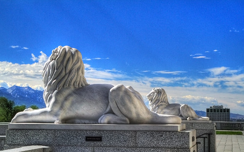 the Lions on the East Stairs