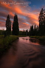The Pristine Storm (Michael Greene's Wild Moments) Tags: sunset storm canon stream yellowstonenationalpark wyoming fineartphotography wy landscapephotography bechler unionfalls bechlerriver michalgreene