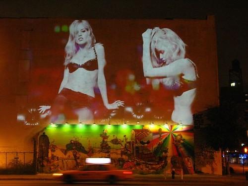 Fashion Week Outdoor Advertising - Guerilla Video Projection Advertising - Fashion Week New York City Advertising - ALT TERRAIN