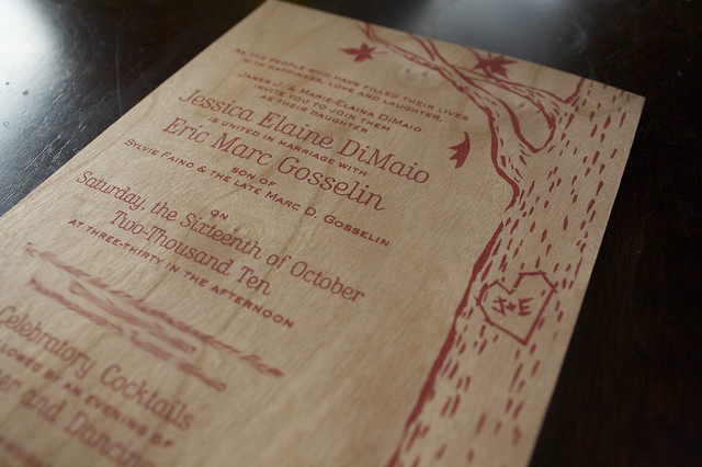 Jess and Eric's adorable wedding invites