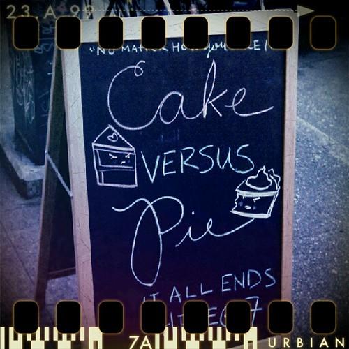 Cake v Pie