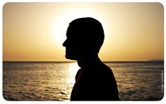 Saint John in the beach paradise (JorgeAgundez) Tags: sunset sea sky orange black sol beach silhouette mar perfil horizon negro profile trafalgar playa cielo silueta puesta cdiz naranja horizonte zahara barbate