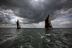 neck and neck (stocks photography) Tags: sea thames boat estuary stocks riverthames whitstable smack barge faversham hernebay swale reculver sailingbarge thamesestuary whitstablebrewery stocksphotography swalesmackandsailingbargematch2010