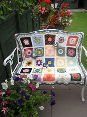 I can't believe I've made 9 Flower Theme Blankets!......>