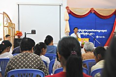 YWAM chap from Phnom Penh giving the sermon