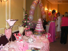 Beach Theme Pink (11) (Popalicious) Tags: pink wedding party black table gold candy sweet lilac popcorn buffet chocolatefountain essex floss favour popalicious