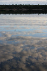 Reflections on the bay (GAC'63) Tags: morning sky ontario canada water clouds canon reflections georgianbay cottage parrysound lakehuron xsi 5milebay 30000islands mclarenisland thearchipelago