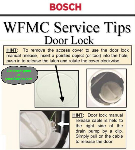 Bosch Washer Manual Door Release