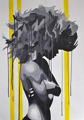 Dripsody (id-iom) Tags: uk london girl hair graffiti big arms stripes drips brixton crossed idiom