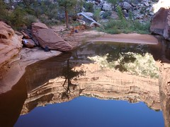 reflecting pool, camp 2 (svwindom) Tags: utah hiking backpacking canyons cedarmesa seenonflickr