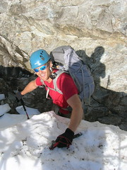 Getting onto the buttress