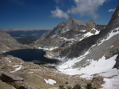 View of Columbine Lake from Sawtooth Pass Photo