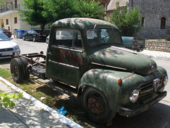 Old vehicle in kalavryta village.