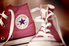 Pink! (v_e_r_a) Tags: pink star flickrbadge shoes all converse chucks strictlypinkconverse theworldinpink coffeeshopaction goldenvintage